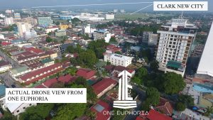 Aerial view from One Euphoria of Clark